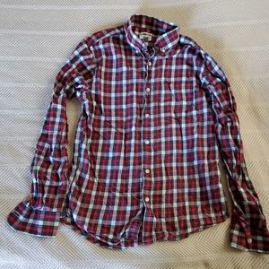 Old Navy mens plaid shirt size small